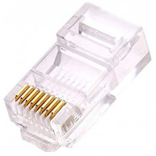 DS-1M02 RJ45 Plug for Cat.6, gold plated, Polycarbonate, UL94V-2, 100 units/box
