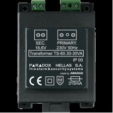 M/T 16.6V75W  Μετασχηματιστής 16.6V75W ▪ PARADOX