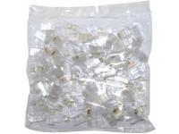 DS-1M01 RJ45 Plug for Cat.5E, gold plated, Polycarbonate, UL94V-2, 100 units/box