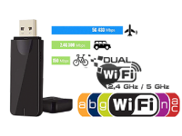 MAG Dual Band 5G 2.4G 600Mbps WiFi USB Dongle Stick Adapter